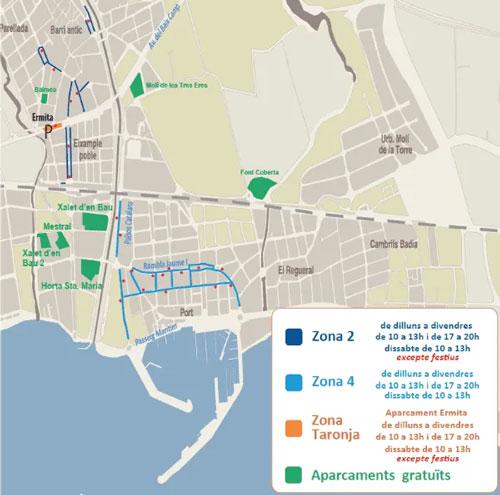 mapa zona azul cambrils
